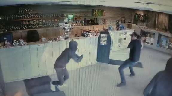 Hero fights off weed dispensary robbers with a bong