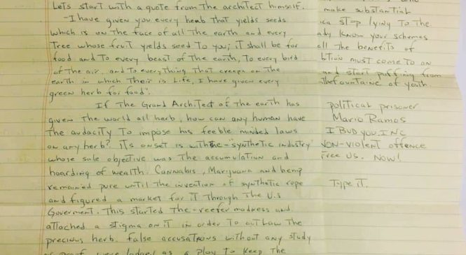 Letters From a Pot Prisoner: Mario Ramos is Proof that Cannabis isn't 'Legal'